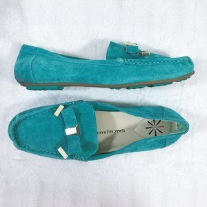 Isaac Mizrahi Suede Moccasin Slip On Loafers Women